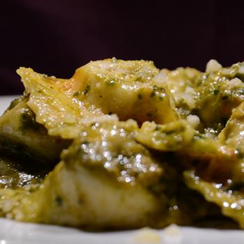 Tortelli di Melanzane, Burrata, Pommodoro e Basilico